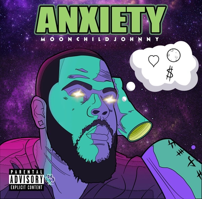 From The Nation of Jersey, USA: 'MoonChildJohnny' blasts out an ethereal, soulful but radical and real Hip-Hop gem with new drop 'Anxiety EP'