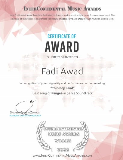 An Important Win For Fadi Awad in The Intercontinental Music Awards!